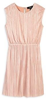 Aqua Girls' Plisse Metallic Dress, Big Kid - 100% Exclusive