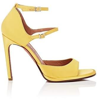 Altuzarra Women's Davidson Silk Sandals - Yellow