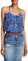 Lucky Brand Floral Printed Halter Tank