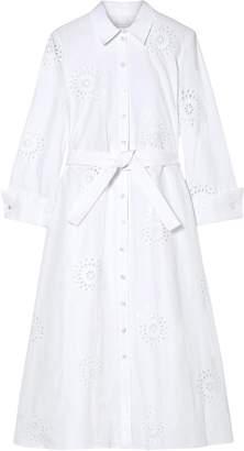 Carolina Herrera Broderie Anglaise Cotton Shirt Dress