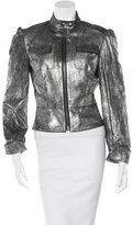 Thomas Wylde Metallic Leather Jacket