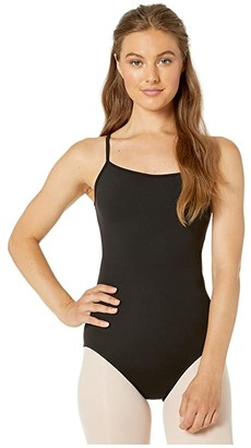 Bloch Mesh Back Camisole Leotard (Black) Women's Jumpsuit & Rompers One Piece