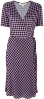 Diane von Furstenberg V-neck check dress - women - Silk - 8
