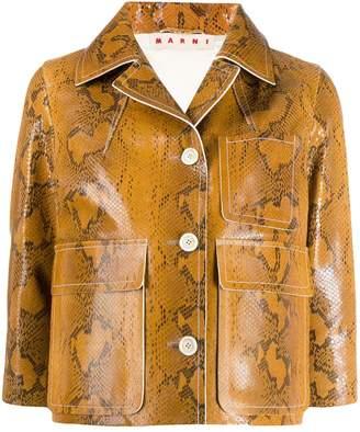 Marni snakeskin print cropped jacket