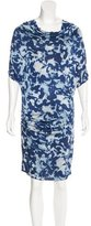 Catherine Malandrino Acid Wash Print Cowl Neck Dress