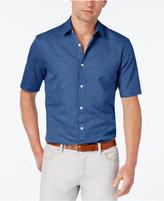Alfani Men's Slim-Fit Striped Short-Sleeve Shirt, Only at Macy's