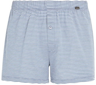 Hanro Cotton Stripe Print Boxer Shorts