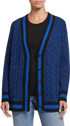 Rag & Bone Theon Cable-Knit Wool Cardigan