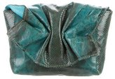Carlos Falchi Karung Ruched Clutch