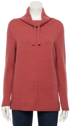 Sonoma Goods For Life Petite Ribbed Cowlneck Tunic Sweater