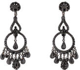 Jose & Maria Barrera Black Crystal Chandelier Earrings