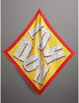 Burberry Print Silk Square Scarf