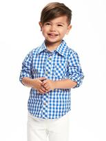 Old Navy Rolled-Cuff Poplin Shirt for Toddler Boys