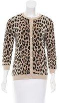 Valentino Leopard Wool Cardigan