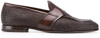 Silvano Sassetti Woven Low-Heel Loafers
