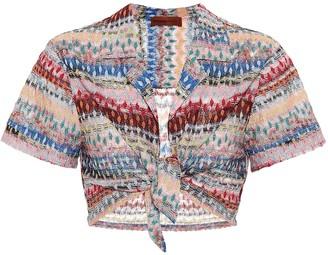 Missoni Mare Striped crochet crop top