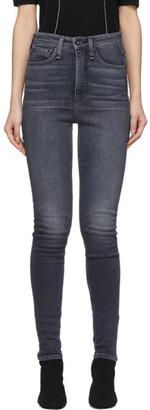 Rag & Bone Black Super High-Rise Jane Jeans
