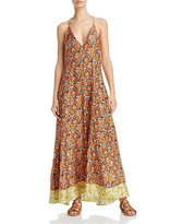 Rebecca Taylor Moonlight Floral Print Silk Maxi Dress
