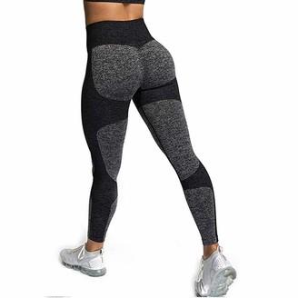 Warmword Women's Seamless High Waisted Yoga Leggings Stretch Gym Workout Running Leggings Yoga Pants (M