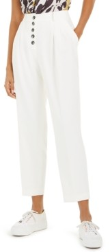 Bar III Button-Front Pleated Pants, Created for Macy's