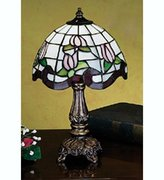 "Meyda Lighting 31210 11.5""H Roseborder Mini Lamp"
