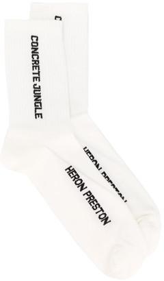 Heron Preston Logo Socks