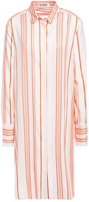 Jil Sander Striped Silk-poplin Shirt Dress