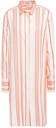 Jil Sander Striped Silk Shirt Dress