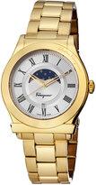 Salvatore Ferragamo 40mm 1898 Sport Men's Moon Phase Bracelet Watch, Golden