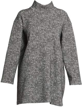 Alaia Spider Wool-Blend Knit Long-Sleeve Tunic