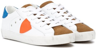 Philippe Model Kids contrast-panel lace-up sneakers