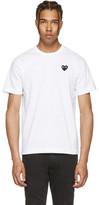 Comme des Garcons White & Black Heart Patch T-Shirt