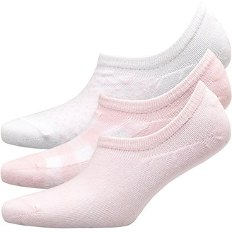 Fruit Cake Fruitcake Womens Three Pack Printed Invisible Trainer Liners Pink/White