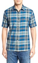Tommy Bahama Men's Paratay Original Fit Plaid Silk Camp Shirt
