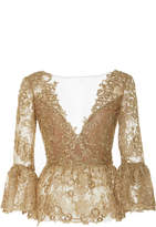 Marchesa Corded Lace Off the Shoulder Top