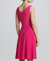T Tahari Kendall Surplice A-Line Dress