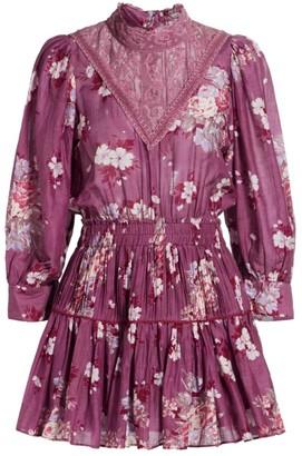 LoveShackFancy Viola Floral Mini Dress