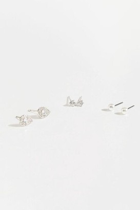 francesca's Tiff Mixed Stud Set - Silver