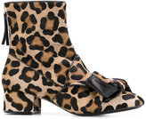 No.21 leopard print ankle boots - women - Leather/Calf Hair - 36