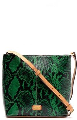 Frances Valentine Small Finn Snake Embossed Crossbody Bag