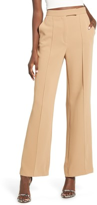 Topshop Pintuck Pleat Wide Leg Trousers