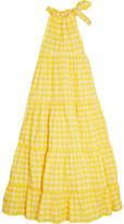 Marques Almeida Marques' Almeida - Gingham Twill Halterneck Maxi Dress - Yellow