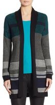 St. John Wool Shawl Collar Cardigan