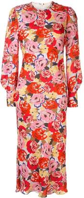 Rebecca Vallance Blume floral-print midi dress