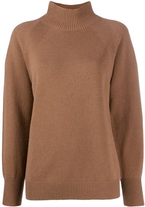 Peserico Ribbed-Trim Funnel Neck Jumper