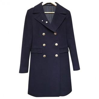 Tagliatore Navy Wool Coat for Women