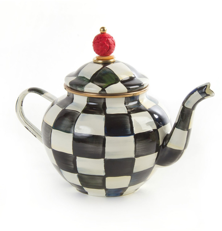 Mackenzie Childs MacKenzie-Childs Courtly Check 4-Cup Enamel Teapot