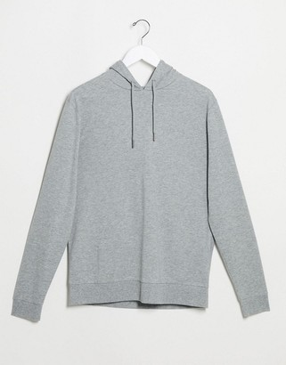 ASOS DESIGN lightweight hoodie in gray marl