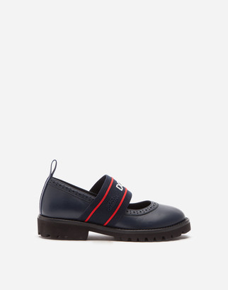 Dolce & Gabbana Lambskin Mary Janes With Branded Elastic