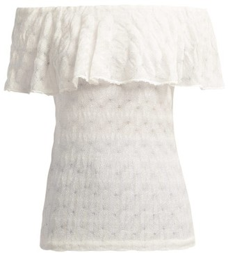 Missoni Mare - Off-the-shoulder Knit Top - Womens - White